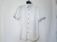 ランバンオンブルー 半袖シャツ サイズ48 XL メンズ 白