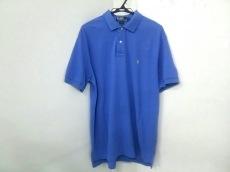 ポロラルフローレン 半袖ポロシャツ サイズL メンズ ブルー 刺繍