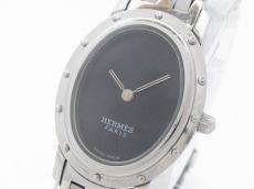 エルメス 腕時計 クリッパー オーバル C01.210 レディース 黒