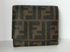 FENDI(フェンディ) 2つ折り財布 ズッカ柄 8M0339 カーキ×黒