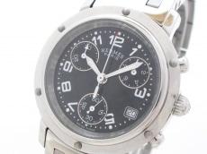 エルメス 腕時計 クリッパークロノ CL1.310 レディース SS 黒