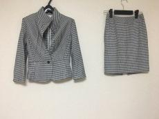 ジーンマクレーン スカートスーツ サイズ9 M レディース 黒×白