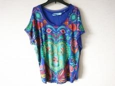 デシグアル 半袖Tシャツ サイズM レディース美品  パープル×マルチ
