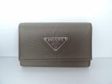 PRADA(プラダ) キーケース - グレーブラウン 6連フック ナイロン