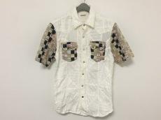 キャピタル 半袖シャツ サイズL メンズ アイボリー×レッド×マルチ