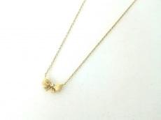 AHKAH(アーカー) ネックレス美品  K18YG×ダイヤモンド リボン