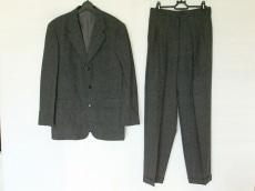 ニコルクラブ シングルスーツ サイズM メンズ 黒×グレー チェック柄
