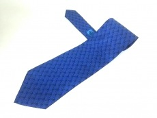 GUCCI(グッチ) ネクタイ メンズ美品  ネイビー×黒×ブルー
