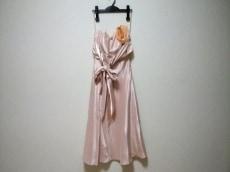 エメ ドレス サイズ9 M レディース ピンク ベアトップ/胸パッド