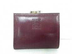 GIVENCHY(ジバンシー) 2つ折り財布 ボルドー がま口 レザー