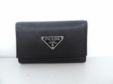 PRADA(プラダ) キーケース - 黒 6連フック ナイロン