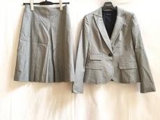 バナナリパブリック スカートスーツ サイズ2 S レディース 白×黒