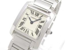 カルティエ 腕時計 タンクフランセーズSM W50012S3 レディース