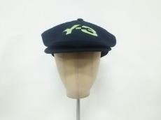 ヨウジヤマモト キャップ新品同様  黒×ライトグリーン ポリエステル