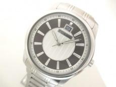 フォッシル 腕時計 FS-4451 メンズ シルバー×ダークブラウン