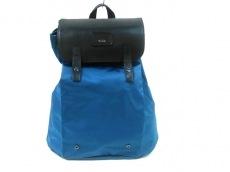 TUMI(トゥミ) リュックサック - ブルー×黒 pack-a-way/ロールアップ
