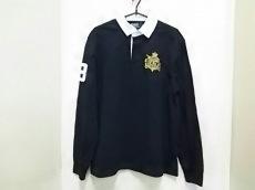 ポロラルフローレン 長袖ポロシャツ サイズM メンズ 黒×白