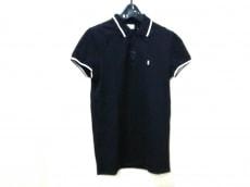 サンローランパリ 半袖ポロシャツ サイズXS メンズ美品  黒×白