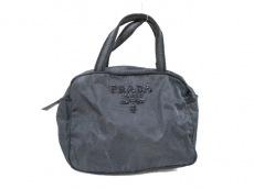 PRADA(プラダ) ハンドバッグ - 黒 ビーズ ナイロン