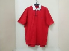 ポロラルフローレン 半袖ポロシャツ サイズL メンズ美品  レッド×白