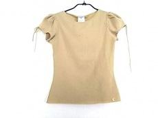 シャネル 半袖セーター サイズ38 M レディース ベージュ リボン