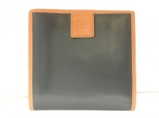 CELINE(セリーヌ) 2つ折り財布 - 黒×ブラウン レザー