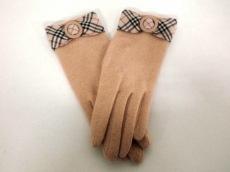 Burberry(バーバリー) 手袋 レディース美品  ベージュ×マルチ