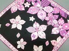 EMILIO PUCCI(エミリオプッチ) スカーフ美品  ピンク×黒×マルチ