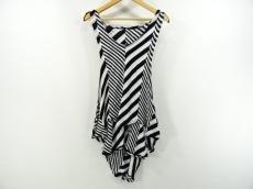 リミフゥ ノースリーブカットソー サイズS レディース美品  黒×白