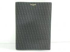 サンローランパリ 小物新品同様  345060 黒×ブラウン ノートブック