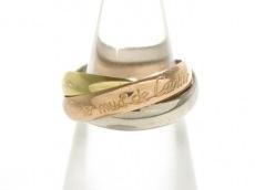 Cartier(カルティエ) 3連リング 48美品  トリニティ K18スリーカラー
