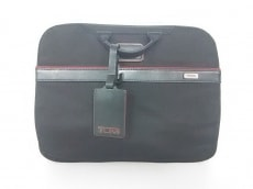 TUMI(トゥミ) バッグ 26806DRH 黒×レッド PCケース/JALコラボ