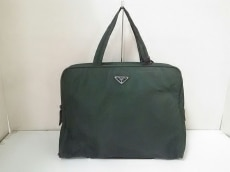 PRADA(プラダ) ハンドバッグ - グリーン ナイロン