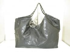 CHANEL(シャネル) トートバッグ ココカバス 黒 PVC(塩化ビニール)