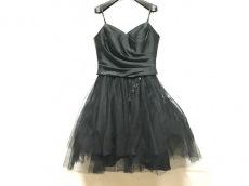 エメ ドレス サイズ9 M レディース 黒 パッド/ビーズ/メッシュ