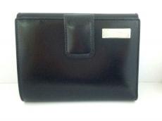 FENDI(フェンディ) Wホック財布美品  - 黒 レザー