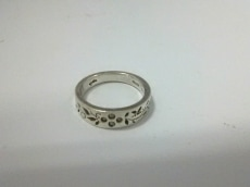 agete(アガット) リング美品  シルバー×ダイヤモンド 4Pダイヤ