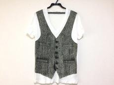 ニールバレット 半袖Tシャツ サイズxs XS メンズ 白×黒 Vネック