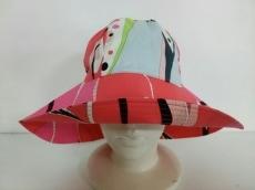 エミリオプッチ 帽子 1美品  レッド×ピンク×マルチ コットン