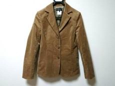 インディビ ジャケット サイズ40 M レディース美品  ベージュ ベロア