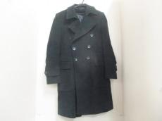 GUCCI(グッチ) コート サイズ46R レディース 黒 ロング丈/冬物