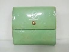 ルイヴィトン Wホック財布 モノグラムヴェルニ M91317 ペパーミント