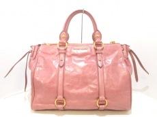 miumiu(ミュウミュウ) ハンドバッグ - 5BB010 ピンク レザー