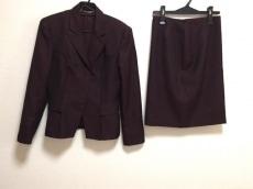 グッチ スカートスーツ サイズ42 M レディース ボルドー 肩パッド
