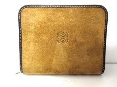 ロエベ 2つ折り財布 - ブラウン×ダークブラウン ラウンドファスナー