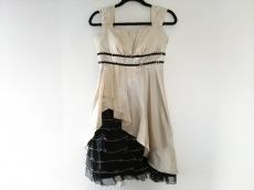 エメ ドレス サイズ9号 レディース アイボリー×黒 スパンコール