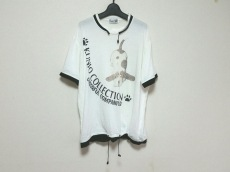 クニオ サトウ 半袖Tシャツ サイズF レディース 白×黒×マルチ