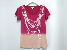DIESEL(ディーゼル) 半袖Tシャツ サイズXS レディース ピンク×白
