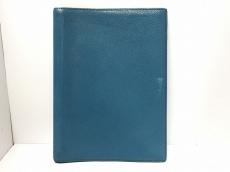 HERMES(エルメス) 手帳 グローブトロッター ブルー シェーブル