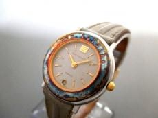 Guy Laroche(ギラロッシュ) 腕時計 - レディース 革ベルト グレー